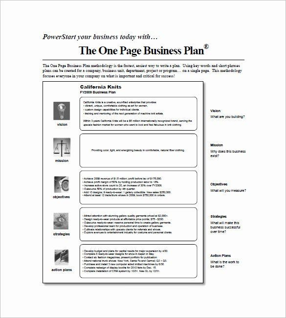 1 Page Business Plan Template 1 Page Business Plan Template Beautiful E Page Business Plan