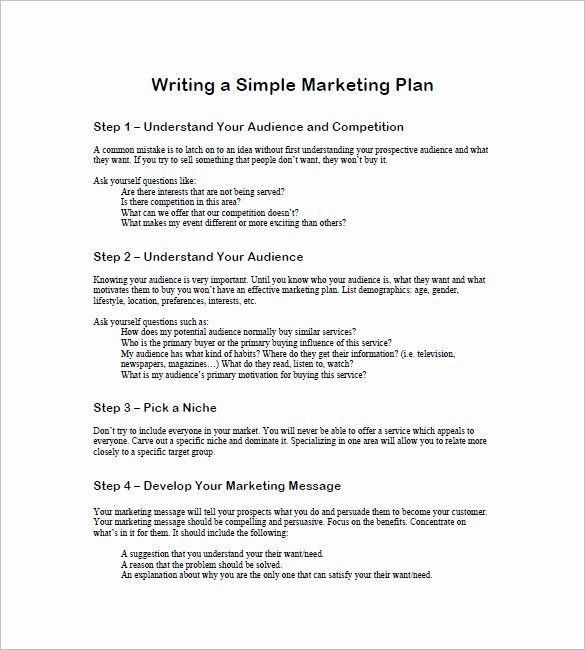 1 Page Marketing Plan Template 1 Page Marketing Plan Template Elegant 19 Simple Marketing