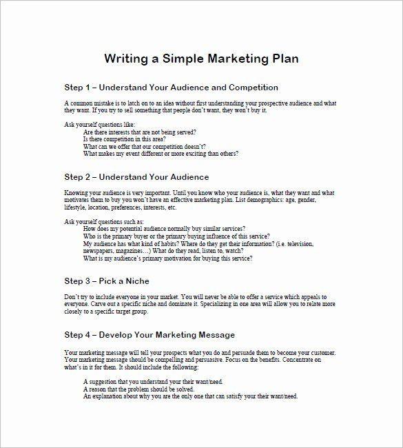 1 Page Marketing Plan Template 1 Page Marketing Plan Template Elegant 19 Simple Marketing
