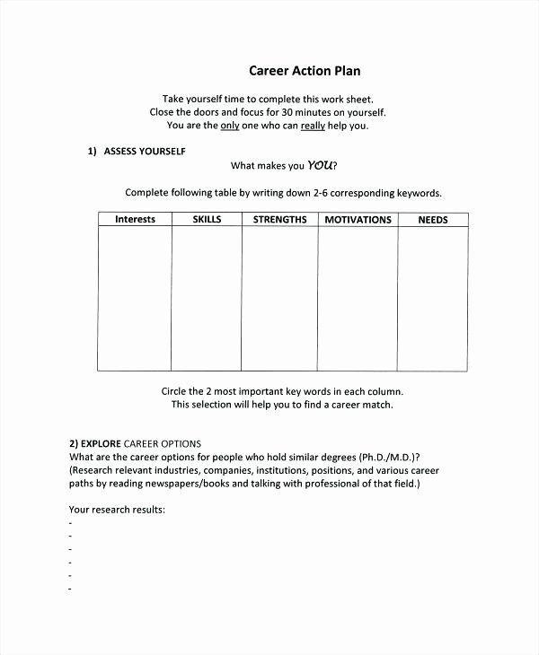 10 Year Career Plan Template 10 Year Career Plan Template New 5 Year Life Plan Template