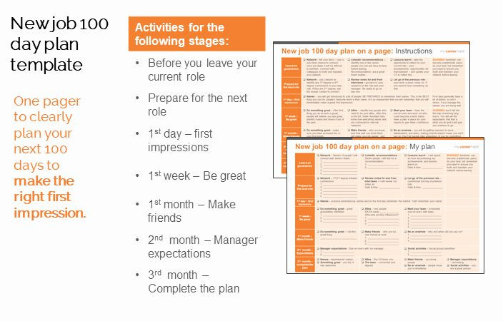 100 Day Plan Template First 100 Days Plan Template Unique New Job 100 Day Plan