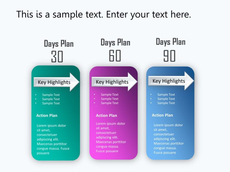 100 Day Plan Template Powerpoint 30 60 90 Day Plan Powerpoint Template 1
