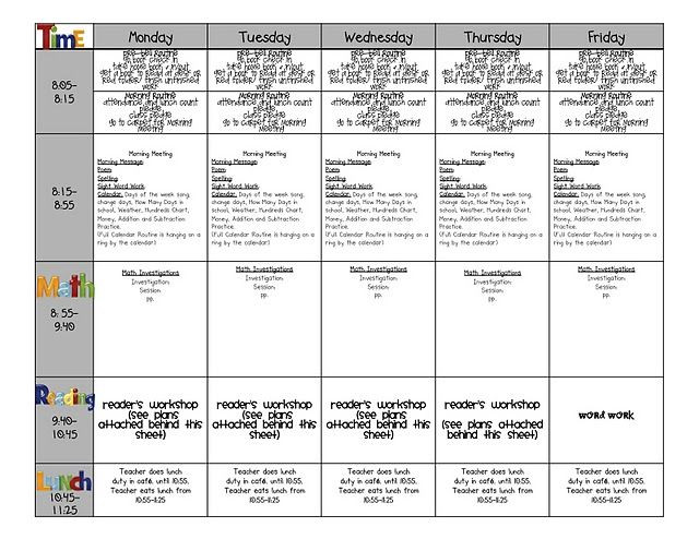 1st Grade Lesson Plan Template Fabulous In First Beginning Of the Year Business