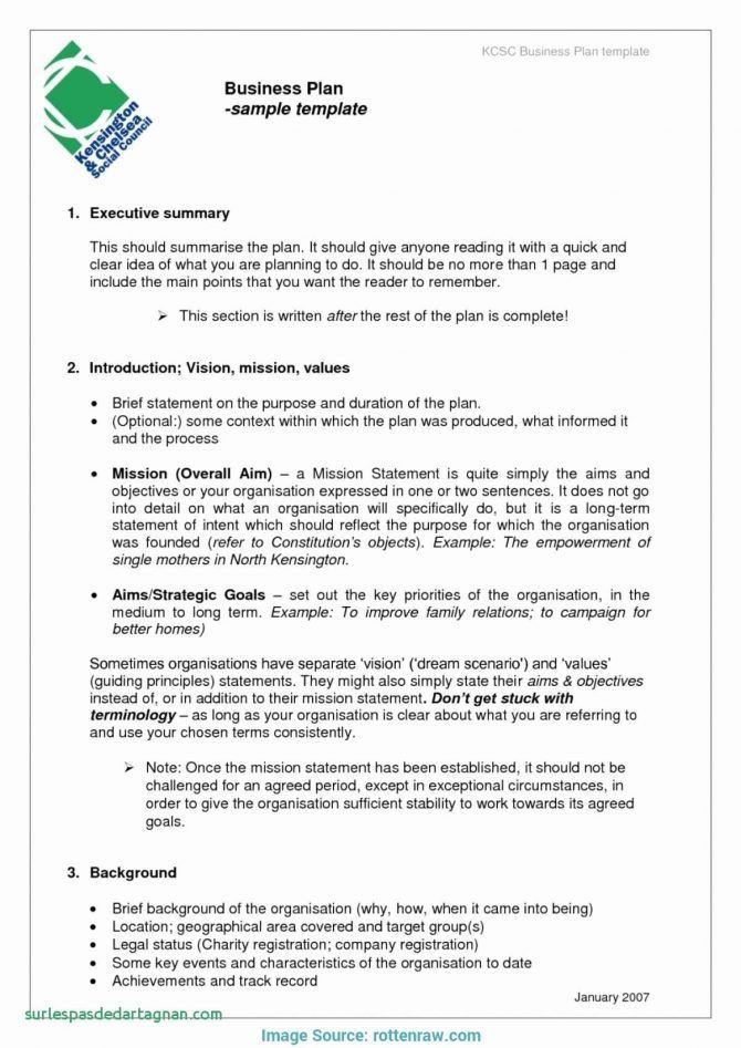 2 Page Business Plan Template Home Based Bakery Business Plan Sample