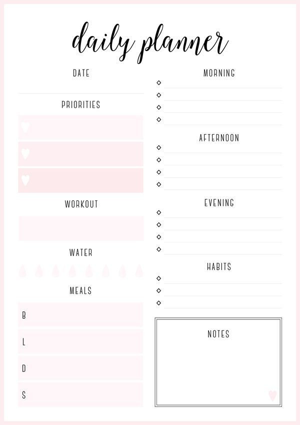 2016 Daily Planner Template Daily Planner From Free Printable Irma Daily Planners by