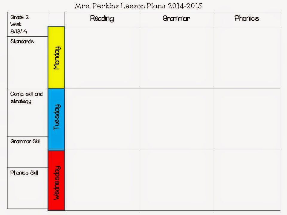 2nd Grade Lesson Plan Template Pin On 2nd Grade Mon Core