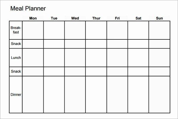 30 Day Meal Plan Template Monthly Meal Planner Template Inspirational Meal Planning