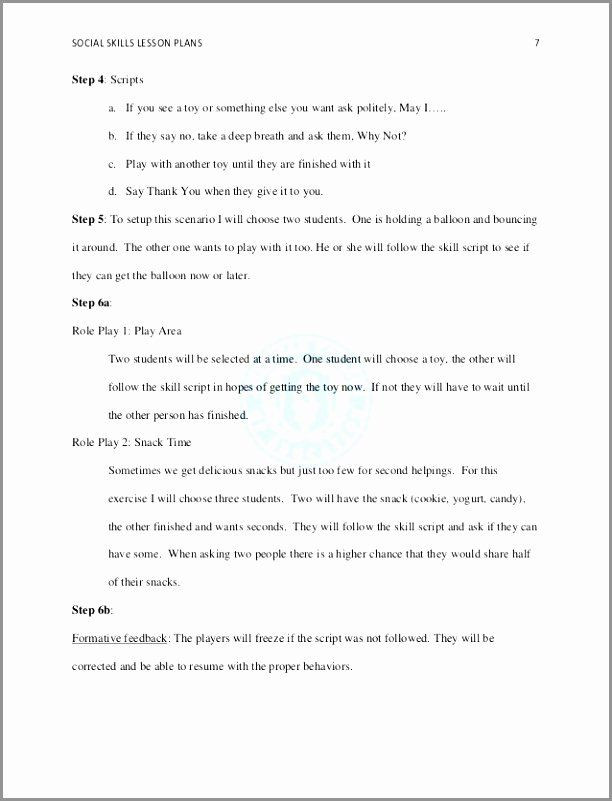 5 Step Lesson Plan Template 5 Step Lesson Plan Template Fresh 6 Team Charter Template