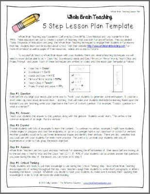 5 Step Lesson Plan Template 62 School Diy Ideas In 2020