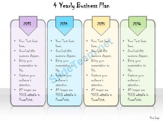 5 Year Plan Template 1013 Business Ppt Diagram 4 Yearly Business Plan Powerpoint