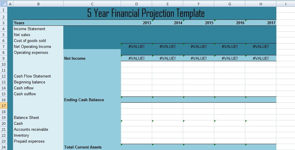 5 Year Plan Template Excel Get 5 Year Financial Projections Template Xls