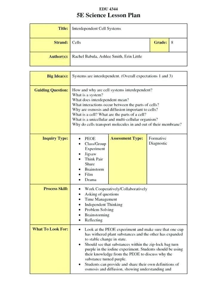 5e Lesson Plan Template Reggio Emilia Lesson Plan Example E Learning Lesson Plan