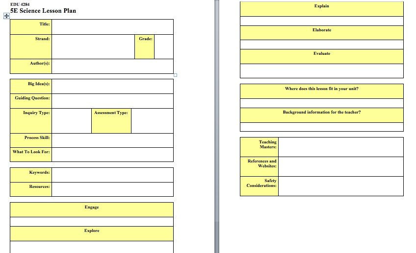 5e Model Lesson Plan Template Pin by Guerrero Karla On Science Culminating Task What I