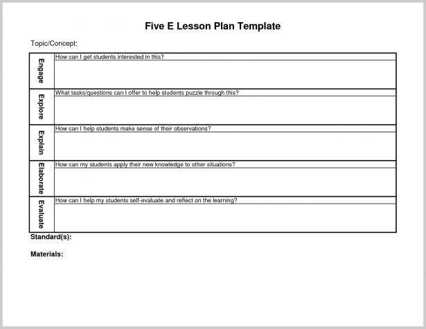 5e Science Lesson Plan Template formal Lesson Plan Template formal Lesson Plan Template
