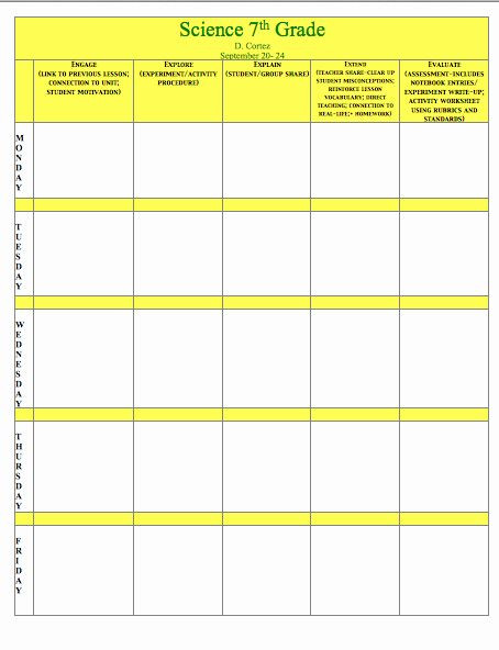 5e Science Lesson Plan Template Science Lesson Plan Template Elegant Oh My Science Teacher