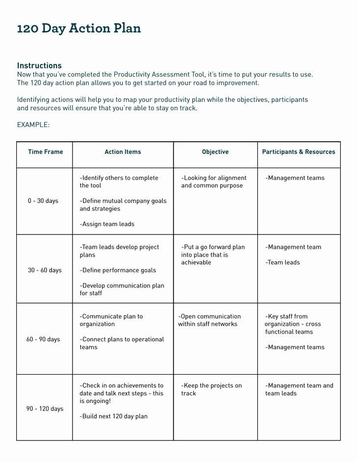 60 Day Action Plan Template 90 Days Action Plan Template New 12 30 60 90 Day Action Plan