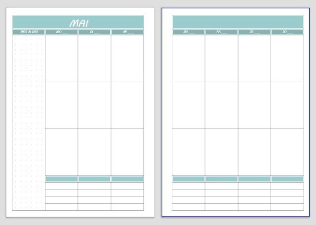 7 Day Planner Template Free Printable Vertical Planner Colorful or