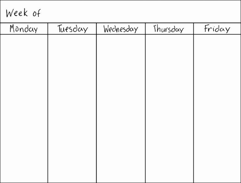 7 Day Weekly Planner Template 7 Day Week Schedule Template Unique Blank Seven Day Calendar