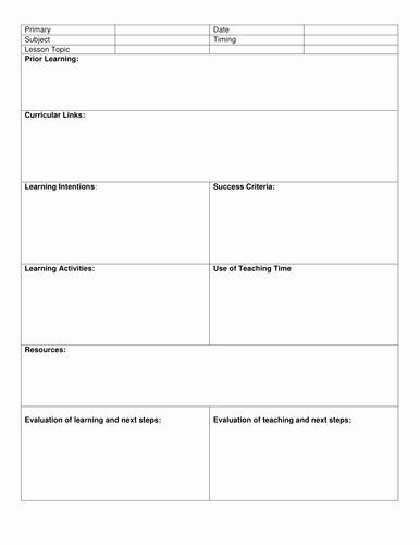 8 Step Lesson Plan Template Blank Lesson Plan Template Luxury Blank 8 Step Lesson Plan