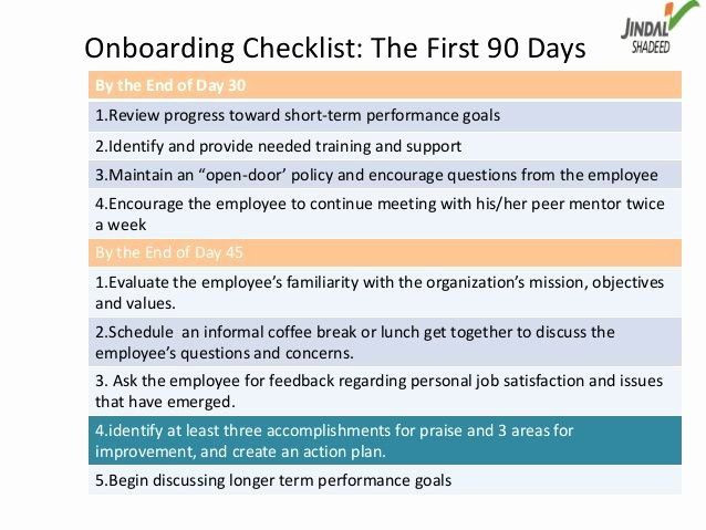 90 Day Onboarding Plan Template 90 Day Boarding Plan Template Elegant Boarding Checklist