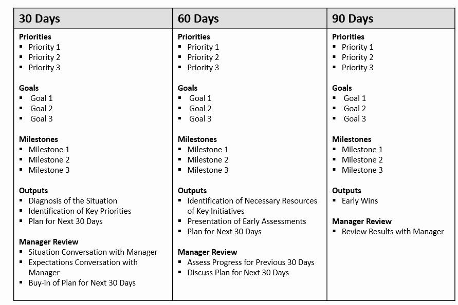 90 Days Action Plan Template 90 Day Action Plan Template Inspirational the First 90 Days