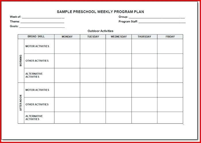 After School Lesson Plans Template Found On Bing From Virtuart