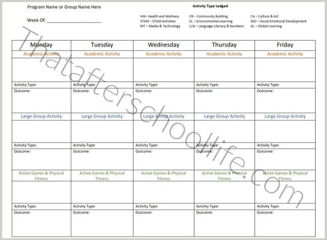 After School Lesson Plans Template How to Create An after School Lesson Plan Examples
