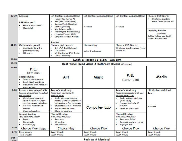 After School Lesson Plans Template Pin On Lesson Plan Template Printables