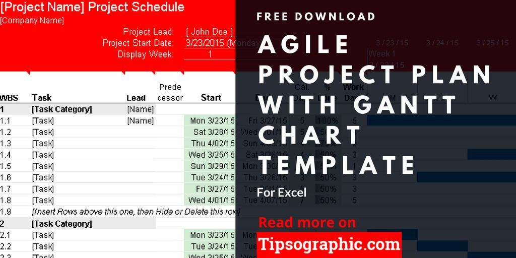 Agile Project Plan Template Excel Agile Project Plan Template for Excel with Gantt Chart Free