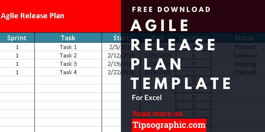 Agile Project Plan Template Excel Agile Release Plan Template for Excel Free Download