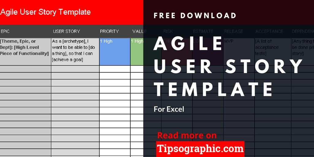 Agile Project Plan Template Excel Agile User Story Template for Excel Free Download