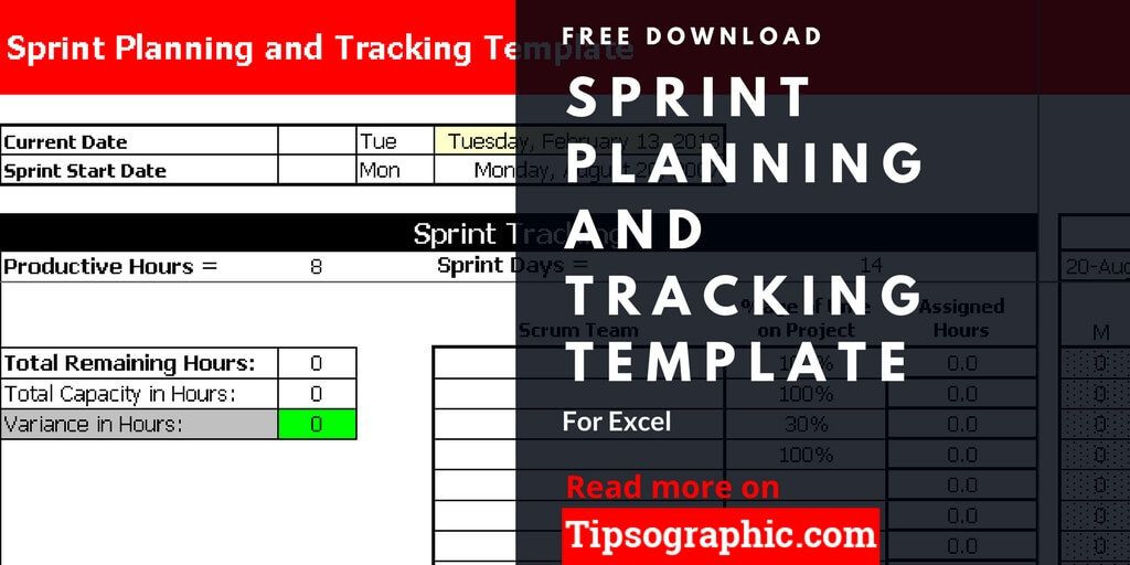 Agile Project Plan Template Excel Sprint Planning and Tracking Template for Excel Free