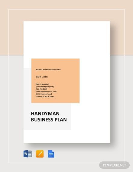 Apple Pages Business Plan Template Instantly Download Handyman Business Plan Template Sample