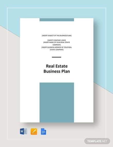 Apple Pages Business Plan Template Real Estate Business Plan Template Word Doc