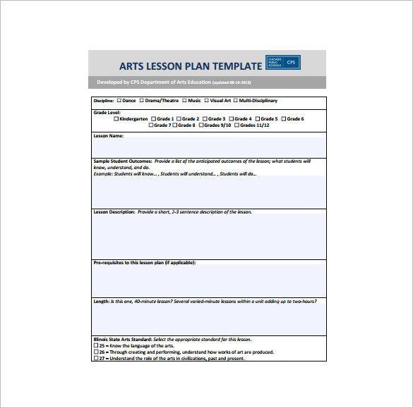 Art Lesson Plan Template Word Art Lesson Plan Template Best Art Lesson Plan Template 10