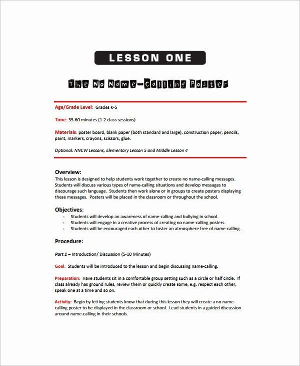 Art Lesson Plan Template Word Art Lesson Plan Template Inspirational Sample Art Lesson