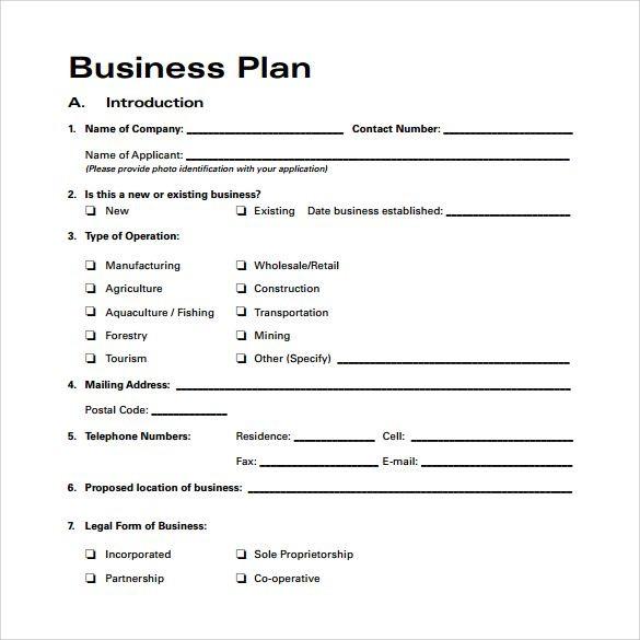 Artist Business Plan Template Business Plan Template Free Download