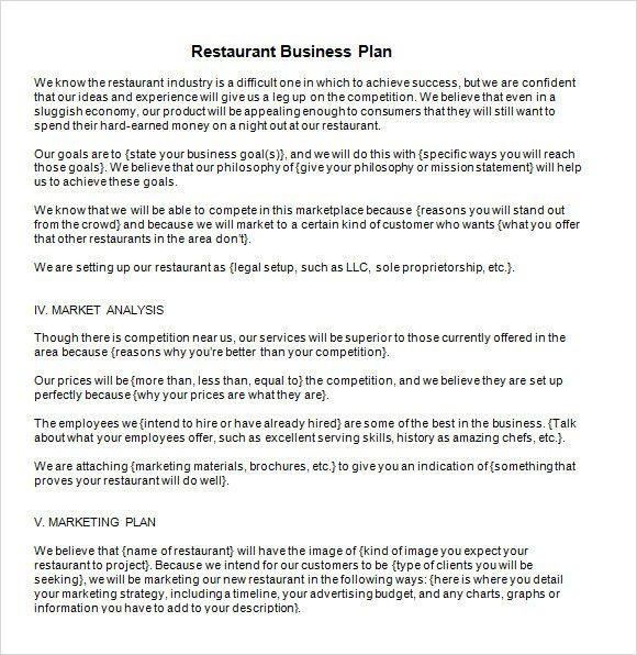 Artist Business Plan Template Restaurant Business Plan Template Word Inspirational 13