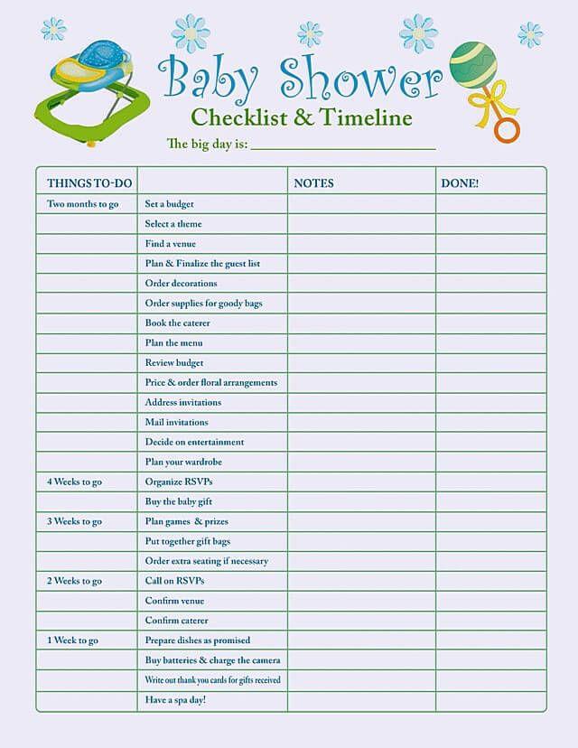 Baby Shower Planning Checklist Template Baby Shower Checklist Planning