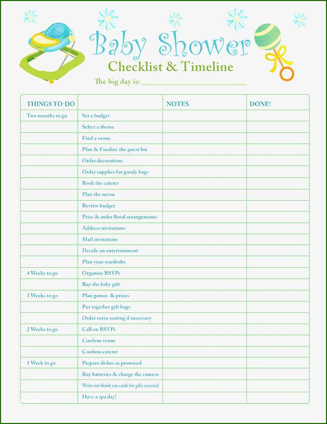 Baby Shower Planning Checklist Template Baby Shower Planner Template 16 Direction that Will Wow You