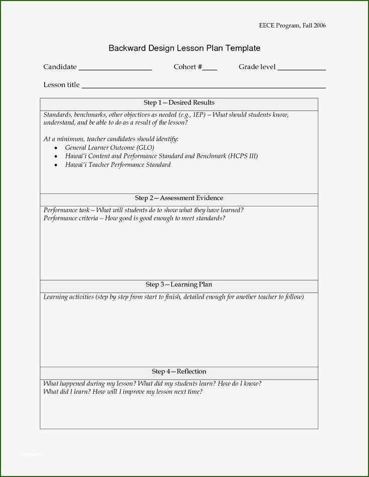 Backwards Design Lesson Plan Template Backwards Design Lesson Plan Template 13 Plan to Try Out In