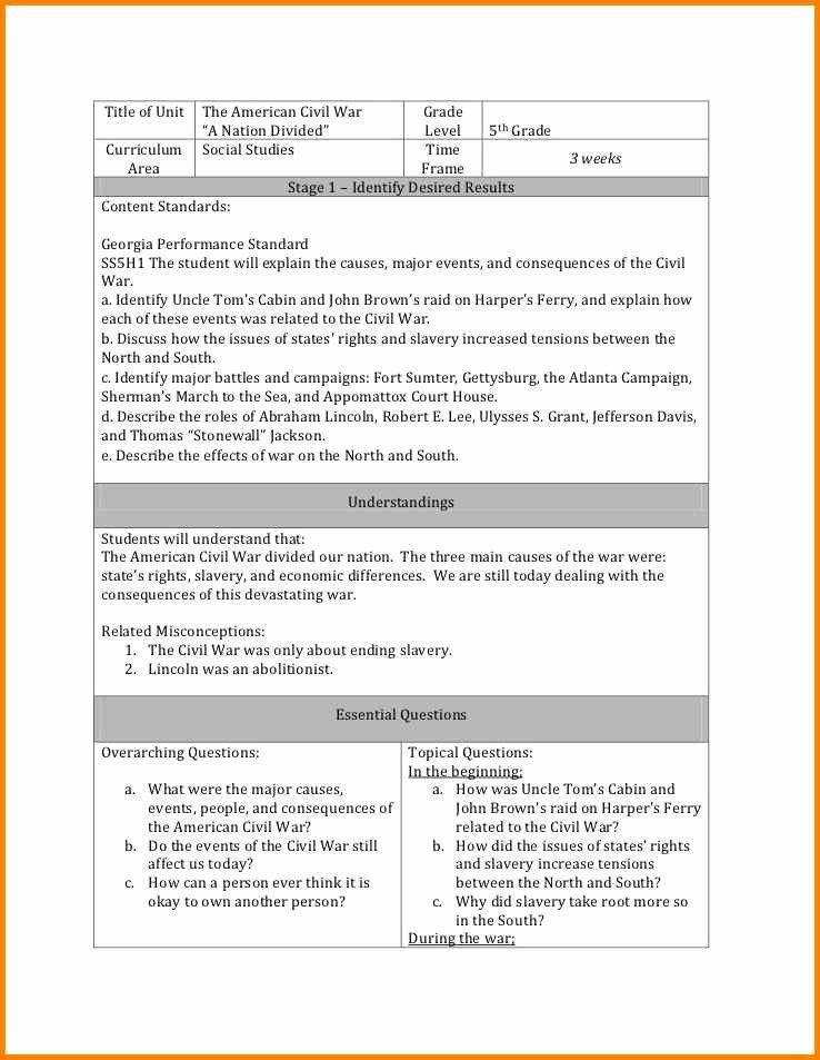 Backwards Design Lesson Plan Template Backwards Design Unit Plan Template Beautiful 15 Backwards