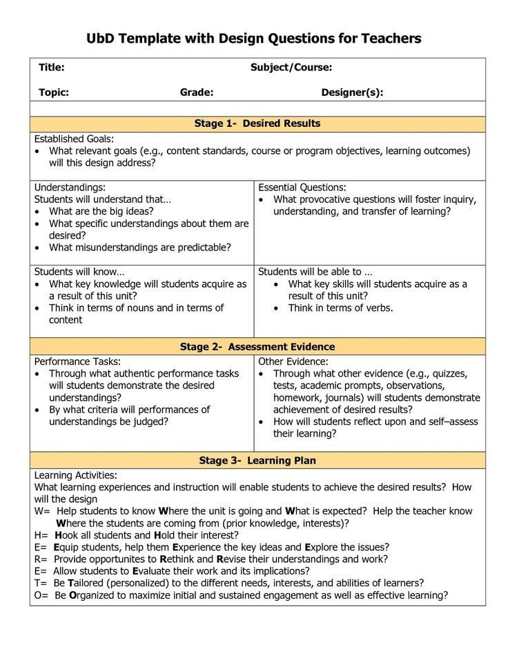 Backwards Design Lesson Plan Template Backwards Design Unit Plan Template Beautiful Understanding