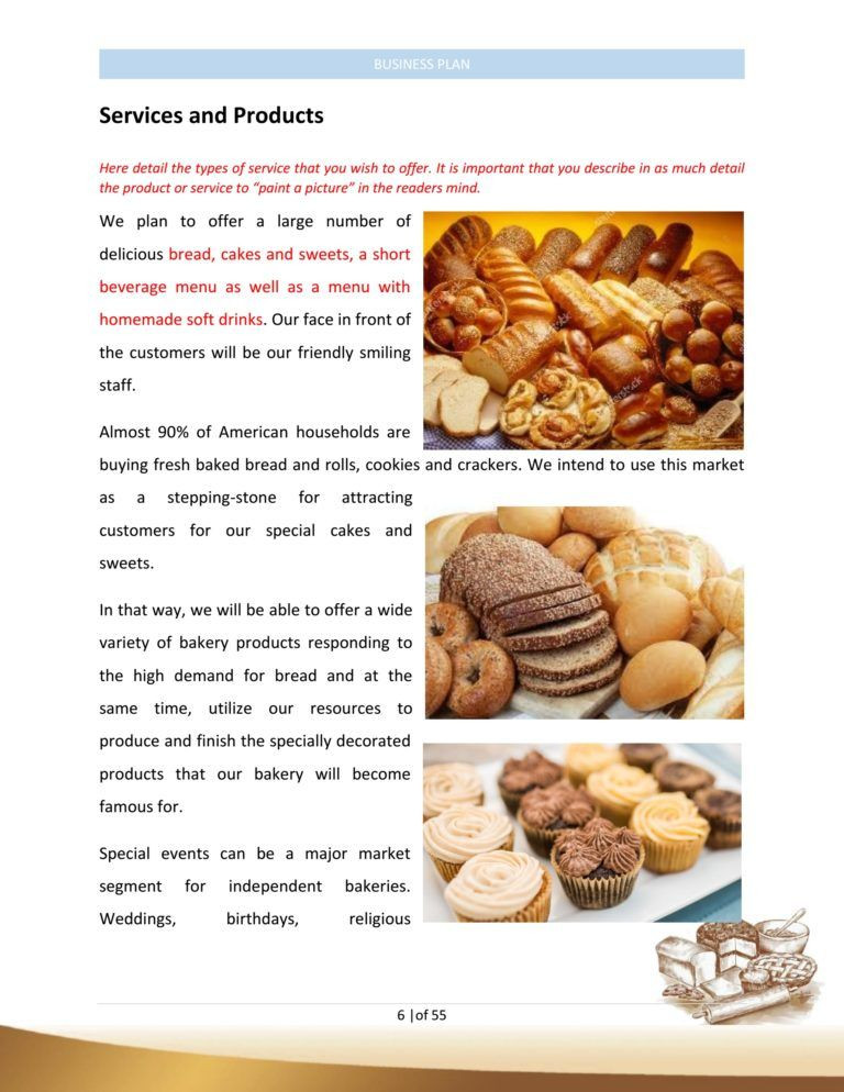 Bakery Business Plan Template Bakery Business Plan Template Sample Pages