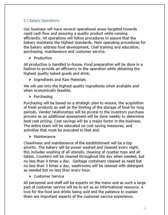 Bakery Business Plan Template Pin On Bakery