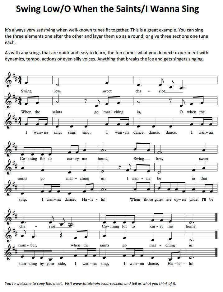 Band Lesson Plan Template Fun to Do with My Choir Choir