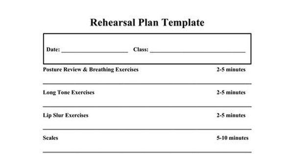 Band Lesson Plan Template Middle School Band Lesson Plan Template