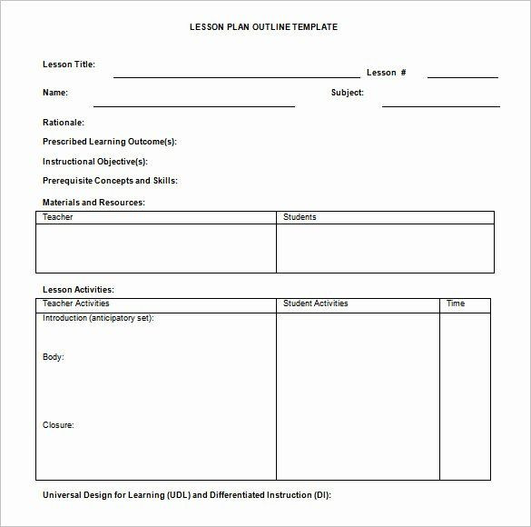 Basic Lesson Plan Template Doc Weekly Lesson Plan Template Doc Unique Lesson Plan Outline