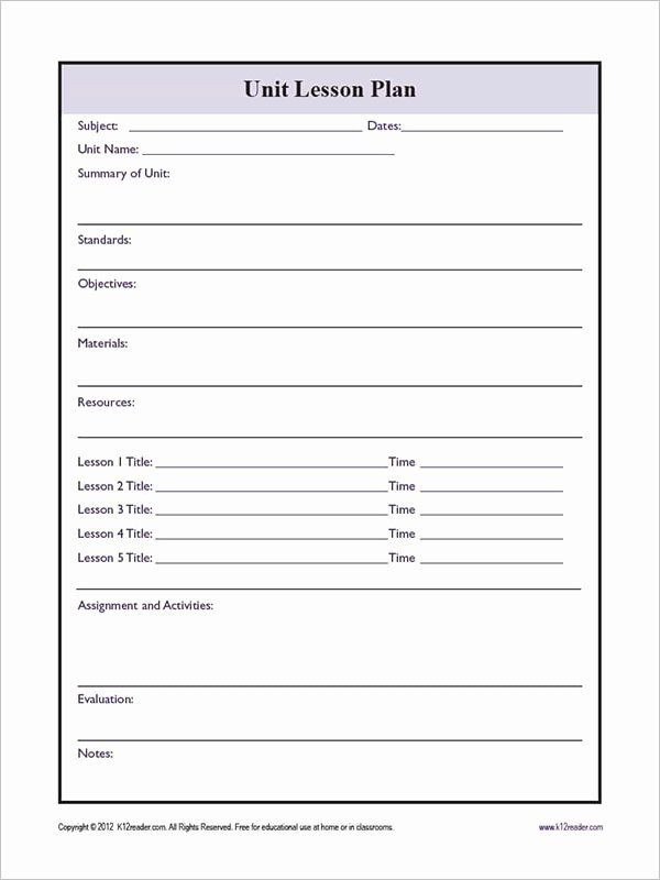 Basic Lesson Plan Template Word Pin On Business Plan Template for Startups