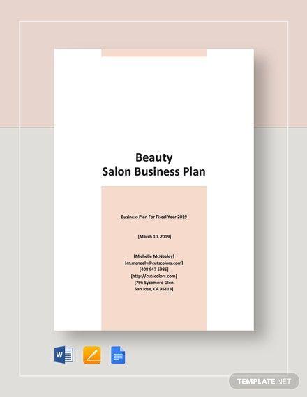 Beauty Salon Business Plan Template Beauty Salon Business Plan Template Word Doc